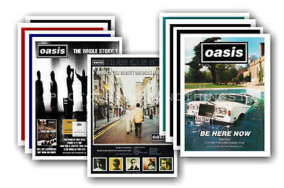 OASIS - 10 promotional posters  collectable postcard set # 5