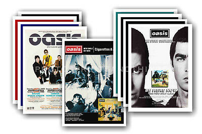 OASIS - 10 promotional posters  collectable postcard set # 6