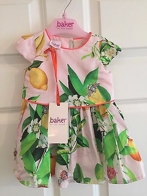 Ted Baker 0-3 Months Girls Floral Lined Dress New with Tags
