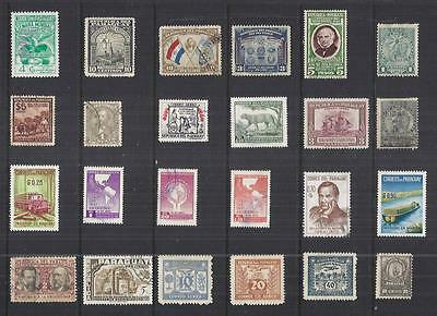 y2163 South America / Equador A Small Collection  Early & Modern Lhm Used