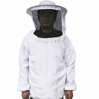 White Beekeeper Beekeeping Protective Veil Suit Dress Jacket Smock Bee Hat UK