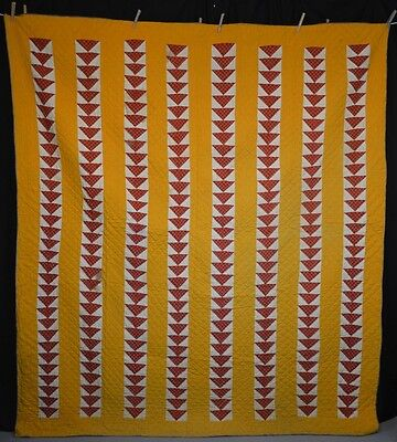 patchwork quilt flying geese cotton handmade Hanson Keedysville antique