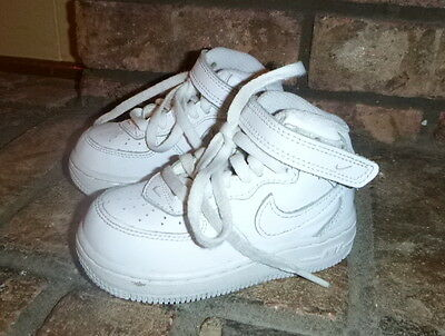 Nike White Leather High Top Tennis Shoes-Sz 6C