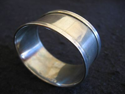 ART DECO SOLID SILVER OVAL NAPKIN RING HM B'HAM Henry Griffiths & Son 1936 EX