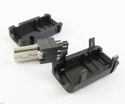 1000sets Mini USB 8Pin Male Plug Socket Connector With Plastic Cover for DIY