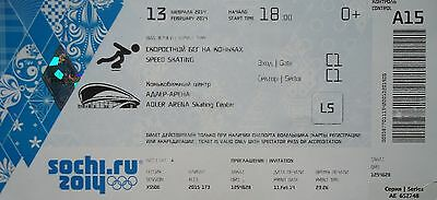 mint TICKET 13/2/2014 Olympic Games Sochi Eisschnelllauf Speed Skating A15