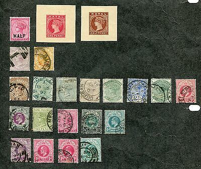 Stamp Lot Of Natal, Mh And Used