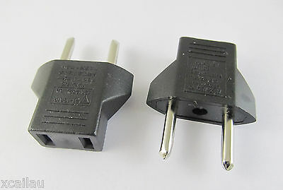10x Travel Charger Wall AC Power Plug Adapter Converter US USA to EU Europe EURO