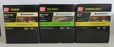 Grip Rite Construction/CarpenterCommon Nails & Sinkers (15lbs total)