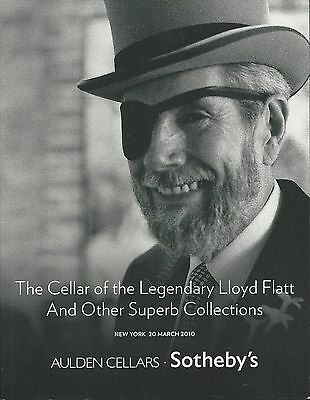 SOTHEBY'S Lloyd Flatt Cellar Wine Collection Auction Catalog 2010