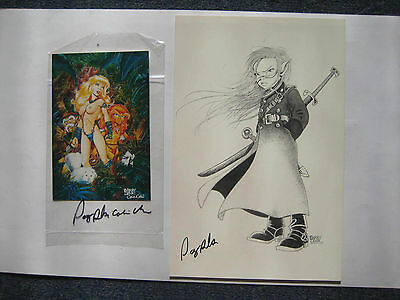 Barry Blair Rare Card plus comic size signed print 2 items