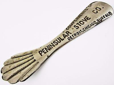 Antique Peninsular Stove Co. Premium Advertising Metal Shoe Horn