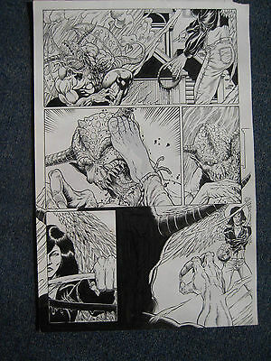 Tim Joe Vigil Original Art Broken Halos Faust