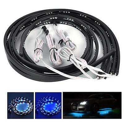 4x 7Color RGB LED Strip Under Car Tube Underbody Under Glow System Neon Light BN