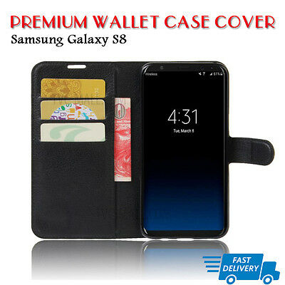 Case Cover For Samsung Galaxy S8  Wallet Flip Leather  (B07