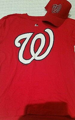 Washington nationals shirt and fitted cap