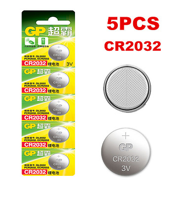 Lots 5pcs GP CR2032 DL2032 2032 3V Button Cell Coin Battery Batteries FS