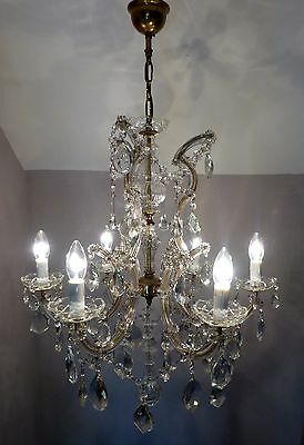 EXCEPTIONAL Large Vintage Antique Marie Therese Chandelier with Crystals & Swags