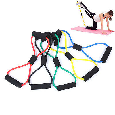 Fitness Yoga Latex Gym Gummiband Resistance Widerstand Schlauch Band Training