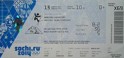 TICKET 13/2/2014 Olympic Games Sotschi Sochi Freestyle Skiing Slopestyle X69