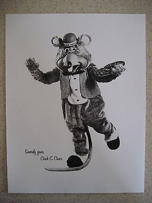 "8-1/2"" x 11"" Photo with Chuck E. Cheese, Pizza Time Theatre"