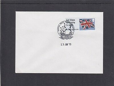 GB 2015  Post & Go Frama Union Flag RMM overprint 1st class stamp A5 FDC