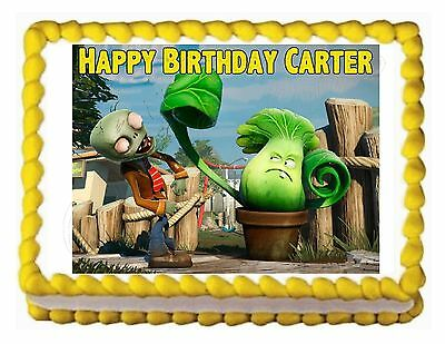 PLANTS VS. ZOMBIES edible cake image party cake topper decoration sheet