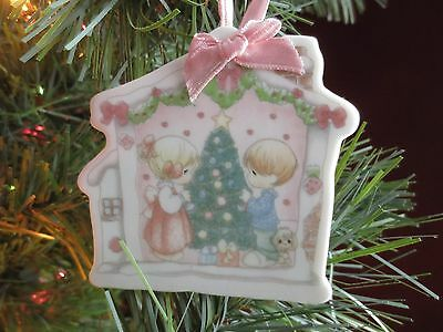 "Precious Moments ""Our First Christmas Together"" Ceramic Christmas Ornament 1993"