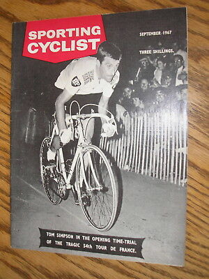 sporting cyclist magazine august 1967, 50th birthday gift, tom simpson, tour de
