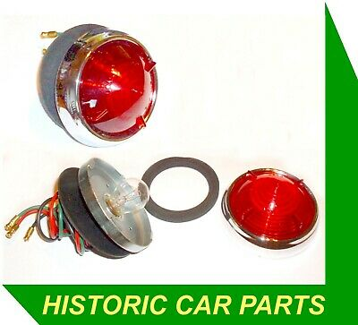 Citroen DS19 1956-60 - 2 x Round RED FINNED STOP/TAIL LAMPS replace Lucas L538
