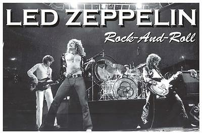 Led Zeppelin Live Stage Photo Rock And Roll Poster New  !