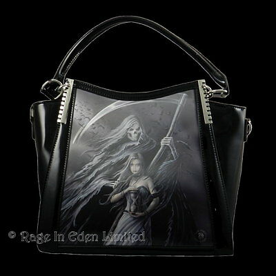 SUMMON THE REAPER 3D Lenticular Witch Art PVC Shoulder / Handbag By Anne Stokes