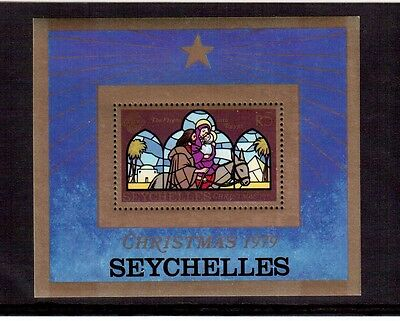 Seychelles 1979 Christmas #445 Souvenir Sheet Vf Nh, The Flight Into Egypt !!