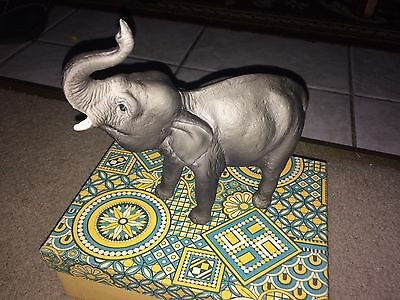 Vintage Breyer Elephant With Trunk Up~Made In Usa