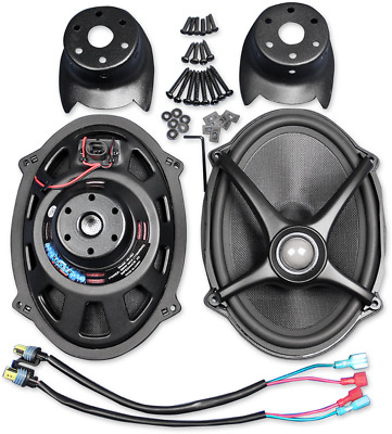 J&M Rokker Black 5x7 Speaker Lid Upgrade Kit 06-18 Harley Davidson Touring FLHX