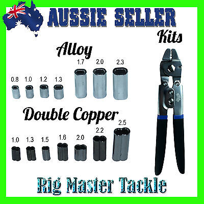 Alloy OR Double Copper Sleeves 350 Kit with 7x Sizes OR Crimper with Crimps Kit