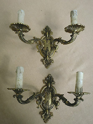 Vintage French Pair  Ornate  Wall Sconces Wall Lights