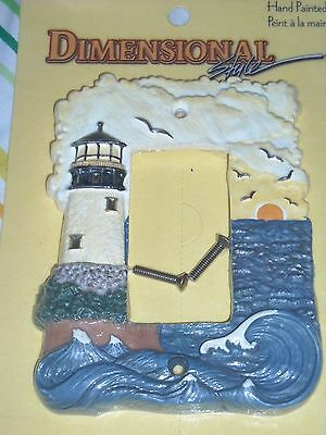 VINTAGE  Nautical Lighthouse Light Switch Plate Cover American Tack & Hardware