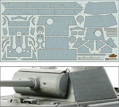Tamiya Zimmerit Coating Sheet Panther Ausf.G Early Production 1:35 Art. 12646