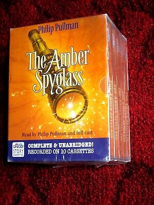 THE AMBER SPYGLASS by PHILIP PULLMAN - UNABRIDGED 10 TAPE AUDIO BOOK - Sealed