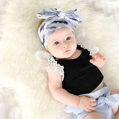 Newborn Toddler Baby Boys Lace Summer Sleeveless Clothes T-Shirt Tops Vest 110
