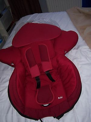 Maxi Cosi rubi complete set replacement car seat covers  in raspberry red.