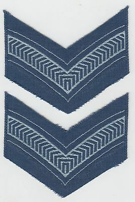 RAAF LAC Leading Aircraftman Chevrons Rank Patch Pair