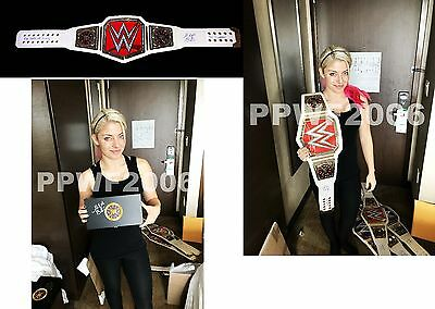 Wwe Alexa Bliss Autographed Raw Womens Belt & Side Plate Box With Exact Proof