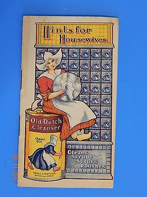 early Cudahy OLD DUTCH CLEANSER Hints for Housewives CURES-FOR LIGHTNING MAD DOG