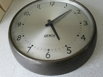 Retro -Gents Of Leicester Industrial Factory / Railway  Wall Clock -Working  -1