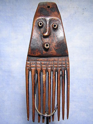 AFRICANTIC FRANCE - Old African Primitive Art - a fine PENDE COMB  - ZAIRE