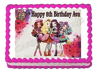 EVER AFTER HIGH 19cm Edible Icing Image Birthday Party Cake Topper Decoration