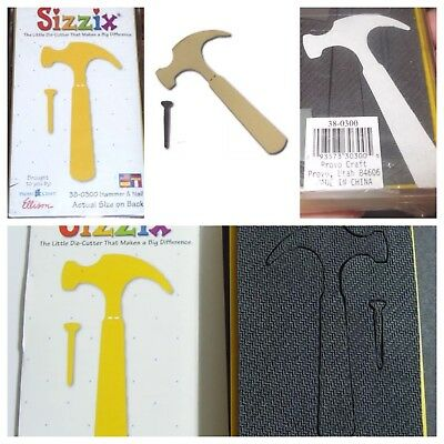 Sizzix Die Hammer Nail Tools Dad Paper Cutting Scrapbooking Crafts New DieCut