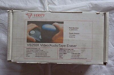 Used VERITY Systems VS250 Audio Video Tape ERASER